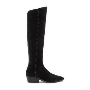 1. State Sage Black Suede Over The Knee Boots Sz 5